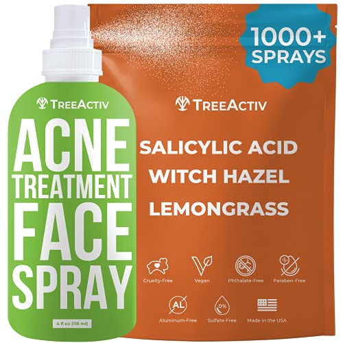 TreeActiv Acne Treatment Face Spray, 4 fl oz | Reduces Occurrence of...
