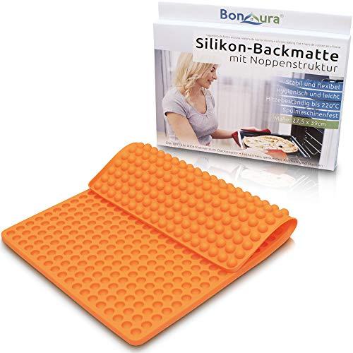 BonAura® EINFÜHRUNGSPREIS Backmatte Silikon statt Backpapier - Silikonmatte als Backform für Mini Halbkugel Hundeleckerli - Wiederverwendbare Mehrweg Backmatten einfach als Backunterlage benutzen