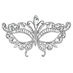 Style-5 Bridal Full Rhinestone Crystal Fancy Masquerade Eye Mask