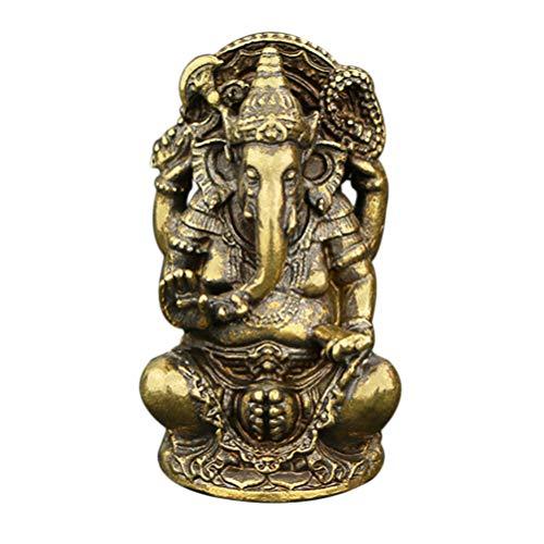 SUPVOX Elefante tailandés Buda Elefante Estatua Metal