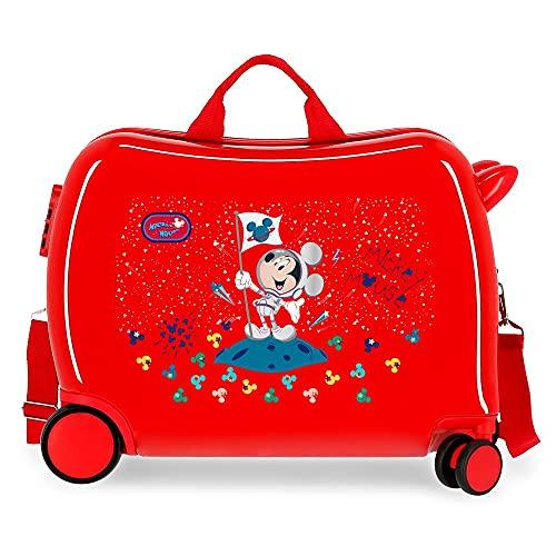 Disney Mickey Mickey on The Moon Maleta Infantil Rojo 50x38x20 cms Rígida ABS Cierre de combinación Lateral 34 1,8 kgs 4 Ruedas Equipaje de Mano