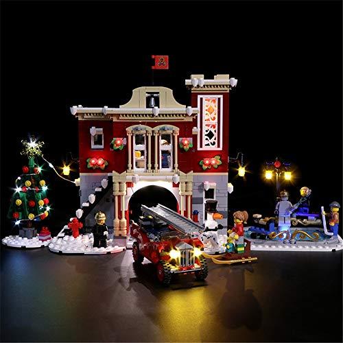 TMIL Juego De Iluminación LED Compatible con Lego 10263, Kit De Luces De Bricolaje para El Bloque De Construcción De La Estación De Bomberos De Winter Village, (Solo Juego De Luces),B