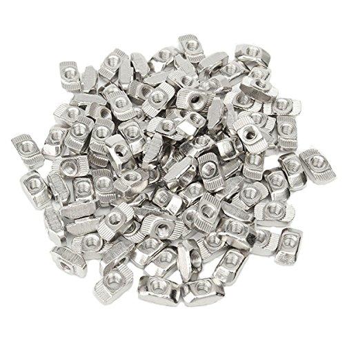 MASUNN 50pcs M5 T Schuifmoer Blok voor 3030 Aluminium Profiel Zink Gecoat Plaat Aluminium Accessoires