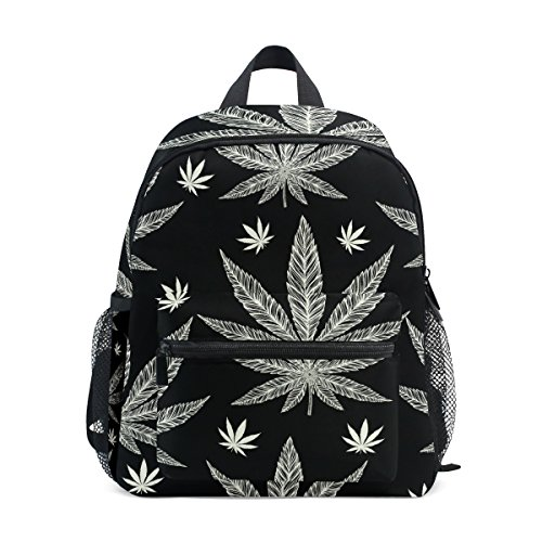 My Daily Kids Mochila Marihuana Hoja De Cannabis Vivero Bolsas para Niños Preescolares