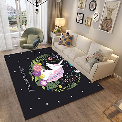 Hogar Sala De Estar Moda Simple Estilo Moderno Rectangular Alfombra Grande Dormitorio Manta De Noche 160x120cm