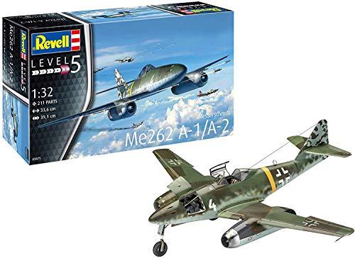 Revell REV-03875 Messerschmitt Me262 A-1/A-2 Schwalbe, Flugzeugmodellbausatz 1:32, 33,6 cm Modelmaking, 1:32/33,6cm, 1/32
