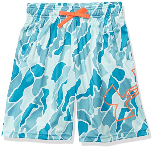 Under Armour Boys' Renegade 2.0 Printed Shorts, Rift Blue (462)/Beta, Youth Small