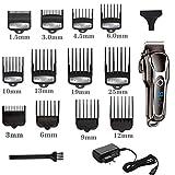 Cortadora de cabelloprofesionalBarber Clipper para cabello Lcd Eléctrico Hombres Máquina de corte de cabello Salon...