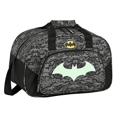 Batman Bolsa de Deporte para Niños, Bolso de Viaje Equipaje Infantil, Diseño Fluorescente Brilla en la Oscuridad, Bandolera para Niños, Regalo para Niños!