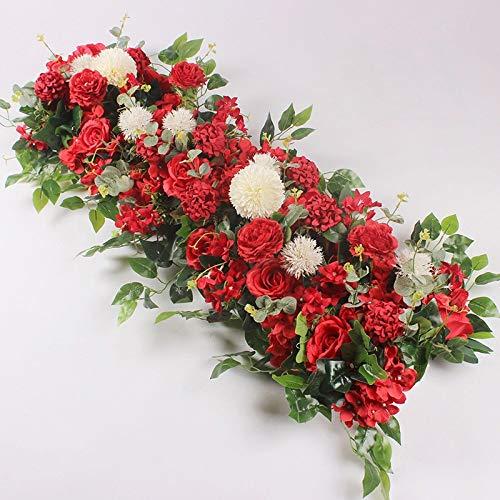 WXL Gefälschte Blume 50/100 cm benutzerdefinierte hochzeitsblume wandanordnung liefert Seide Pfingstrose künstliche Blume Reihe dekor romantisch Blume (Color : A5, Größe : 100cm)
