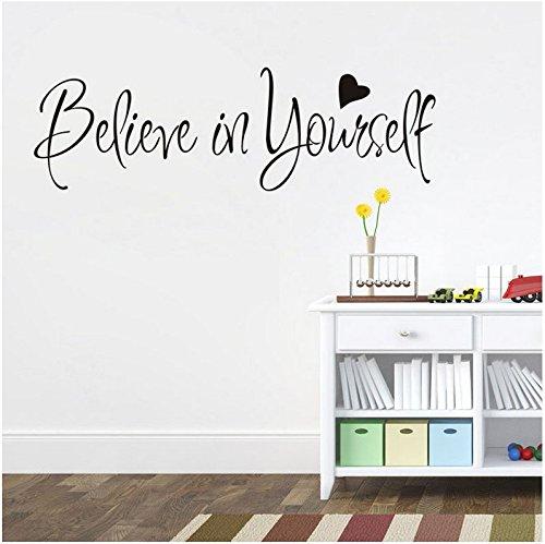 "Adesivi Murali Frasi Scritte""believe in yourself"" Adesivi da Parete Amovibile Decorazione per Muri 57 * 20cm"
