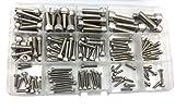 HVAZI 135PCS Metric M2.5 M3 M4 M5 M6 M8 304 Stainless Steel Hex Socket Head Cap Screws Assortment Kit