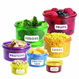 Per dimagrire in modo intelligente - con i colorati contenitori per cibi potrete porzionare rapidamente e facilmente i vostri pasti e mangiare seguendo esattamente il vostro piano alimentare. Controllo dell'apporto calorico - i contenitori per la pre...