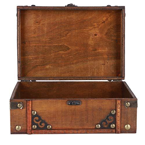 zhoul Caja de Almacenamiento de Madera Antigua de Estilo Europeo, Accesorios de fotografía, Adornos, decoración del hogar, 540 g/19 oz
