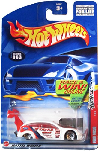 Hot Wheels 2002 Tuners Ford Focus #063 on Race & Win Card 1 or 4 by Mattel