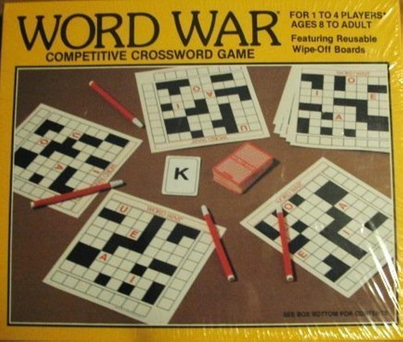 Word War Competitive Crossword Game-Vintage