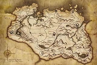The Elder Scrolls V Skyrim Parchment Map
