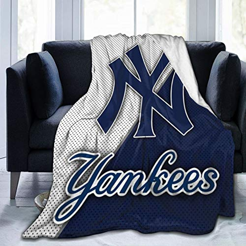 DKV Blankets N-Y-Y Throw Blanket Fleece Blanket Team Multisize Perfect Throw for All Seasons for Couch Bed