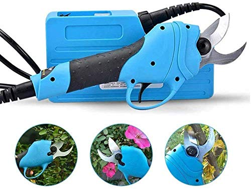 Read About WUAZ Electric Pruning Shears, 30mm Tree Branch Pruner Garden Cutter Scissors with Bag and...