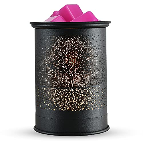 kobodon Metal Wax Warmer Candle Wax Burner, Electirc Candle Melter and Scentsy Warmer for Home Office Decor(Tree)
