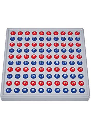 SCHUBI ABACO 100 mit Zahlen: Modell A 10/10 Kugeln (rot/blau)
