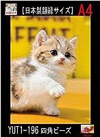 A4額付き!じゃんけん子猫 ダイヤモンドアート(1-196)/全面貼り付け(210mm*297mm)/四角型(Square)/ビーズアート