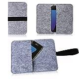 NAUC Filz Tasche für Smartphone Cover Hülle Hülle Schutzhülle Handy Flip Filztasche, Farben:Hell Grau, Handy Modelle für:Ulefone Vienna