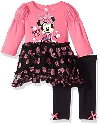 Disney Baby Girls' 2-Piece Minnie Mouse Tutu Dress and Legging Set