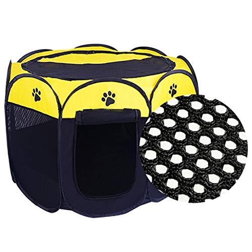 ZHL Tenthoge voor honden, opvouwbaar, voor katten, katten, konijnen, afdekking voor lampenkap, van mesh, voor oefeningen