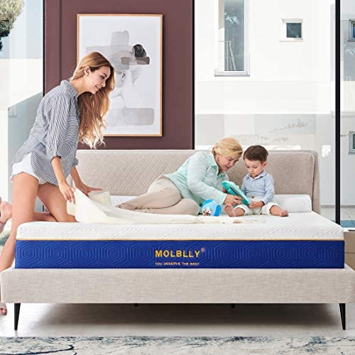 Queen Size Mattress 12 Inch Molblly Cooling Gel Memory Foam Mattress Bed in a Box Cool Queen product image