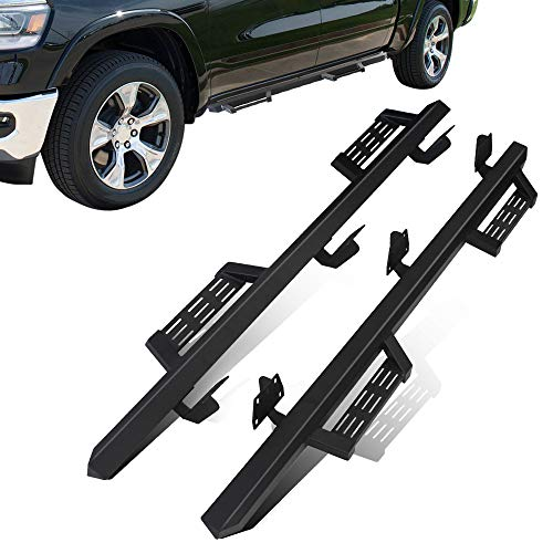 MICROPOWER Running Boards Nerf Bar Side Steps Rails Bar for Dodge Ram 1500 Crew Cab 2019 2020, Driver and Passenger Side