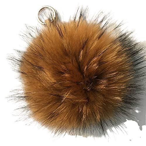 Kunstfell Bommel Pelz-Ball Schlüsselanhänger, Taschenanhänger Pelzbommel, Pelz-Anhänger für Handtaschen, Rückspiegel im Auto