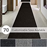 iCustomRug Spartan Weather Warrior Duty Indoor/Outdoor Utility Berber Loop Carpet Runner, Area Rugs, 3ft,4ft,6ft Widths 70 Custom Sizes with Natural Non-Slip Rubber Backing 3' X 12' in Brown