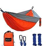 Camping Hammock, Lightweight Nylon Portable Parachute Single Camping Hammock for Backpacking, Camping, Travel