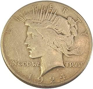 1924 S Peace $1 Fine