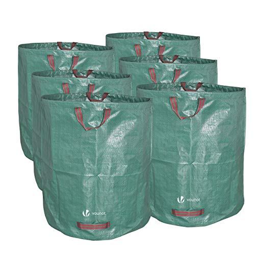 VOUNOT Sacs de Jardin XXL Lot de 6 Sac Jardin 272L Sacs de déchets Jardin résistants Sac à déchets de Jardin Sac déchet en PP Robuste Lot de 6 Sacs à déchets de Jardin Sacs Poubelle de Jardin