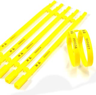 High Security Seals SL-08F Plastic Truck Seal, Plastic (Pack of 1000) (Yellow)