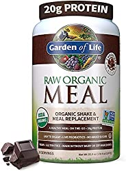 Garden of Life Meal Replacement - Organic Raw Plant Based Protein Powder, Chocolate, Vegan, Gluten-F