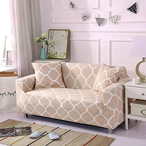"""HIKO23 Sofabezug für vier Jahreszeiten, minimalistisch, moderne Kombination, Stretch-Stoff, Textil, Free Space - Khaki, 2 (55 \""""* 71\"""")"""