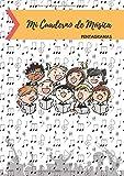 Cuaderno de Música Pentagramas: Libreta para Notación Musical para Niños, 5 Pentagramas por Página, 100 Páginas A4