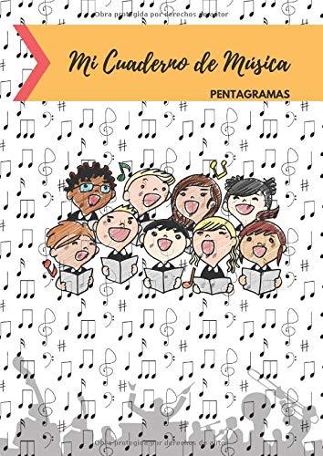 Cuaderno de Música Pentagramas: Libreta para Notación Musical para Niños, 5 Pentagramas...