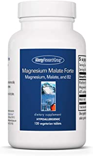Allergy Research Group - Magnesium Malate Forte - with Riboflavin - Energy Support - 120 Tablets
