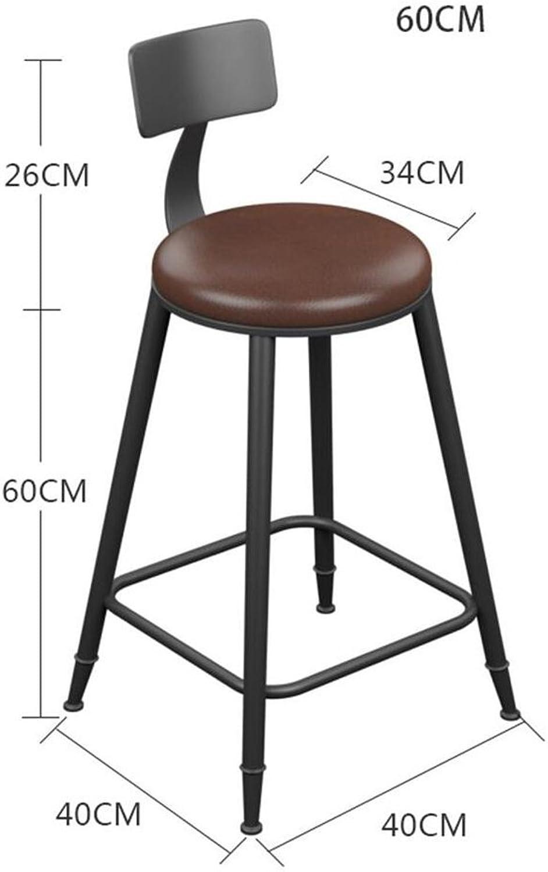 Bar Stool Iron Retro Size Optional High Stool Bar (Size   60CM)