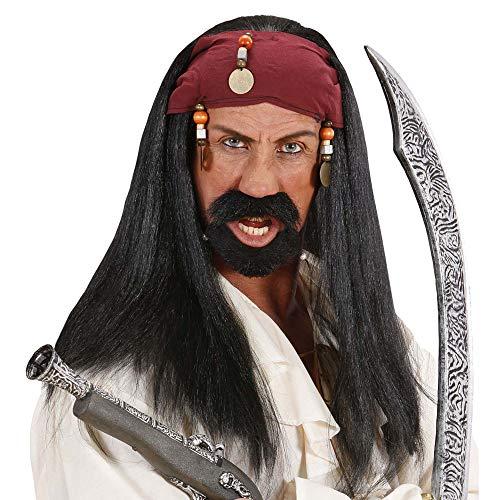 Widmann Perruque de pirate avec bandana et perles