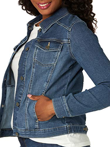 Riders by Lee Indigo Women's Stretch Denim Jacket, Weathered, X-Large
