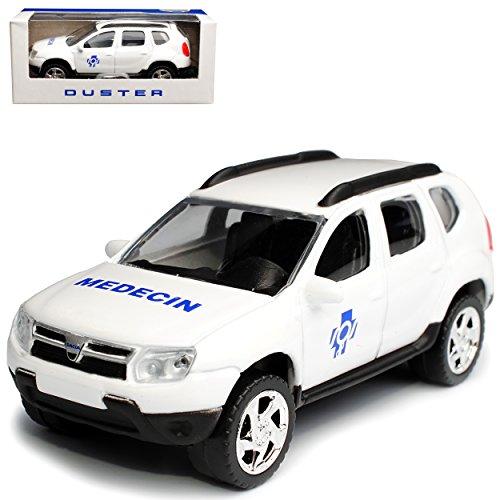 Norev Dacia Duster I SUV Weiss Medecin 1. Generation 2010-2018 1/64 Modell Auto