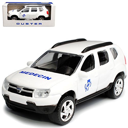 Norev Dacia Duster I SUV Weiss Medecin 1. Generation 2010-2018 1/64 Modell Auto