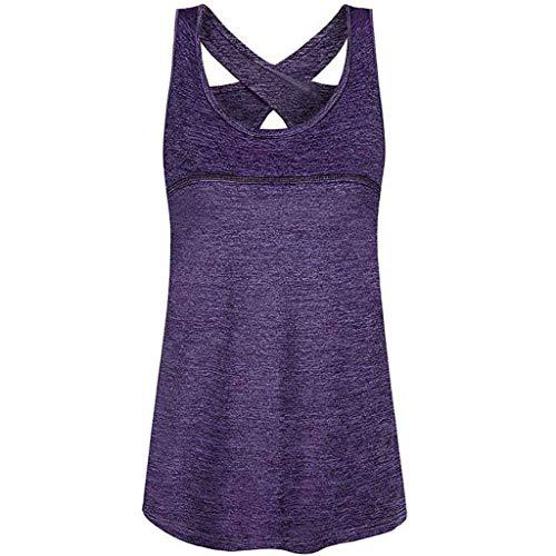 Wtinfer Camiseta sin mangas para mujer, camiseta deportiva de yoga, camiseta sin mangas