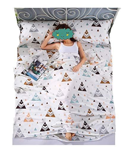 Einzel/Doppel Schlafsack Liner Outdoor Baumwolle Schlafsack Tragbare Camping Reise Schlafsack Matratze Bettlaken Isomatte (160 * 230cm, Mailänder Stil)