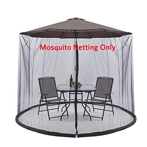 SWEET Cubierta de sombrilla Mosquitera Sombrilla de jardín Pantalla de Mesa Cubierta de Red de sombrilla Malla de poliéster Malla Adecuado para Patio al Aire Libre Camping Sombrilla